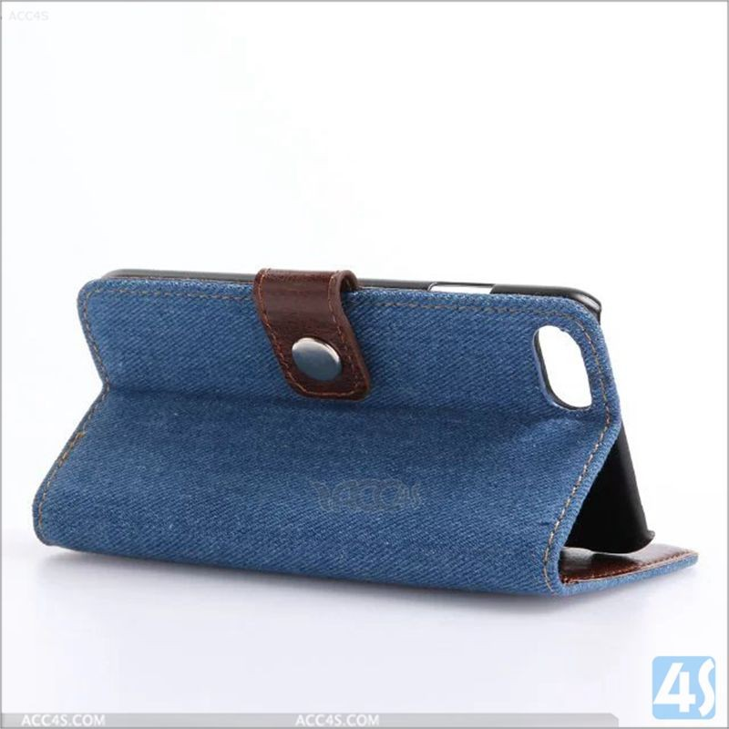 2016 with card slot jean pu wallet flip cover for iphone 7, for iphone 7 covers