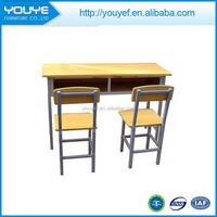 Conjoined School Furniture School Desk With Attached Chair
