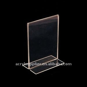 2011 new products light l shape acrylic display board - Porta poster plexiglass ...