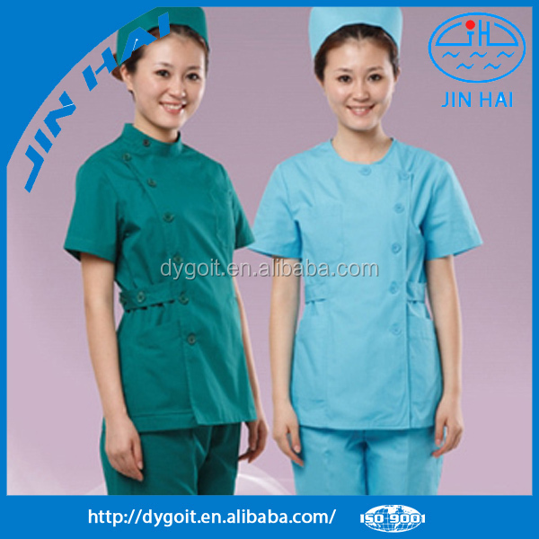 2015 distributors dyed 100% polyester scrubs for hospital