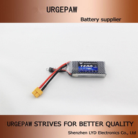 Urgepaw 7.4v 2s1p 1500mah high diacharge rate rc car battery for rc helicopter 7.4v rc battery with long life cycle high C 25c