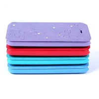 2014 alibaba hot new product leather stand case for iphone 5C Laudtec