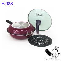 Non-stick double sided fry pan