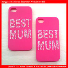 Sweet pink silicone sleeping mode cell mobile phone case