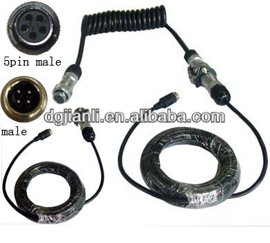 20 meters video power cable with aviation plug