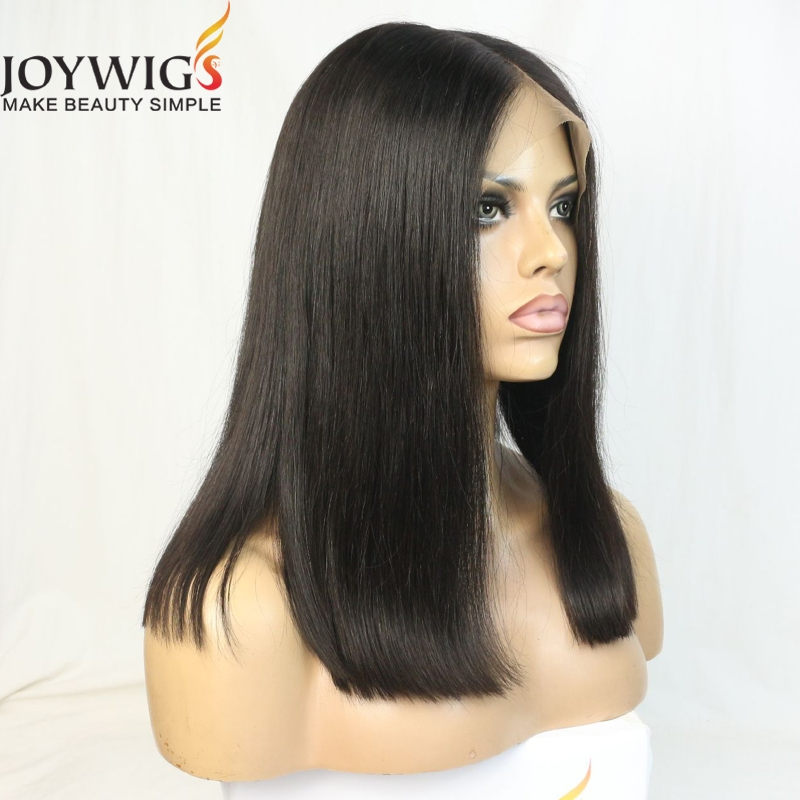 Brazilian virgin hair long bob wig plucked hair part defined perfectly lace front wig