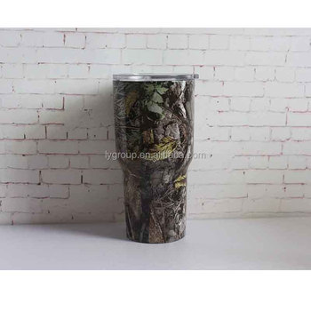 Insulated vacuum flask 304 material stainless steel 30oz tumbler,30oz camo stainless steel tumbler