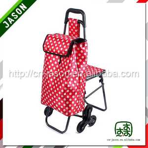 folding shopping trolley cart aluminum frame baskets