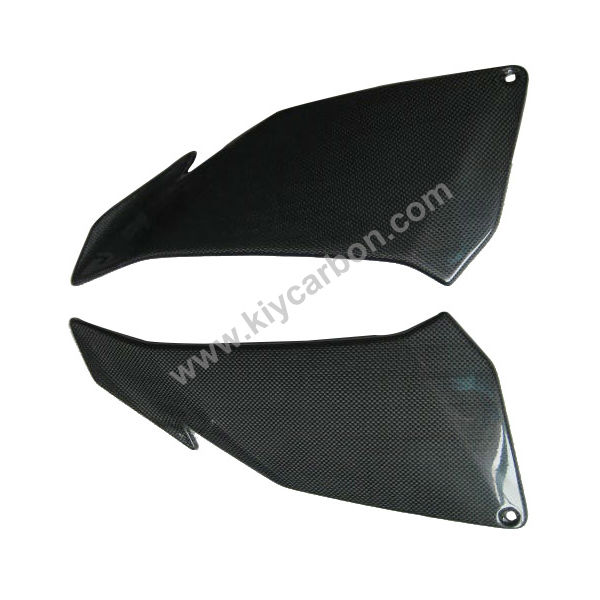 Carbon fiber covers under upper fairing for Aprilia Tuono V4