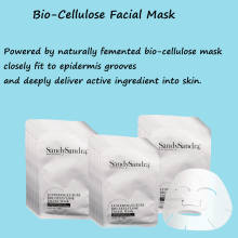 OEM/ODM Female Luxury Face Mask For Skin Care Silky Smoothing Lucid Lustering Luxury Bio-Cellulose Facial Mask