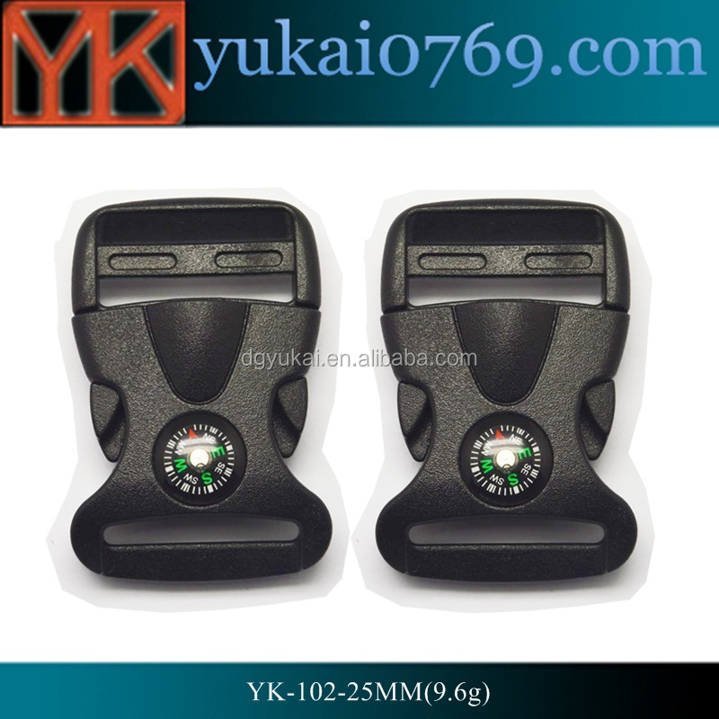Yukai 25mm plastic side release buckle for webbing for bags wholesale