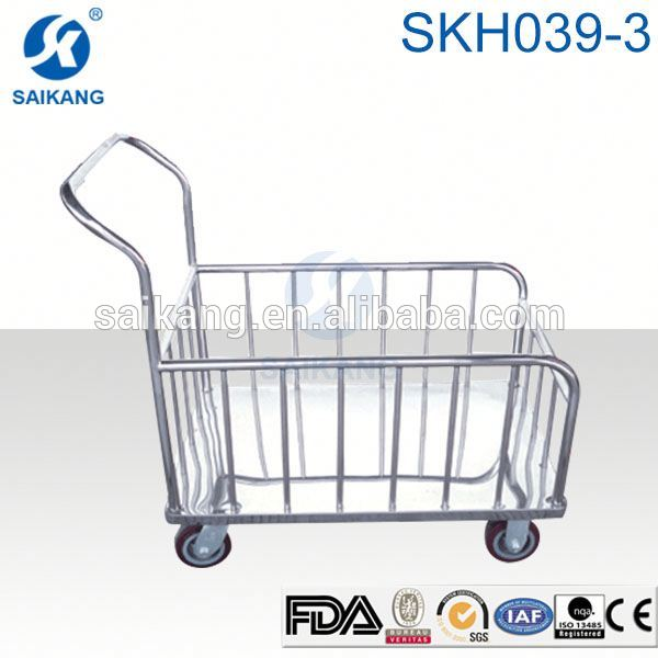 HOT!!!stainless steel platform flat bed trolley