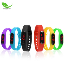 Ultra Thin Outdoor Sports Digital Wrist Watch Silicone Smart Bracelet LED Wrist Watch