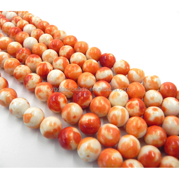 Wholesale semi precious discount beaded fake gemstone stone beads for jewelry