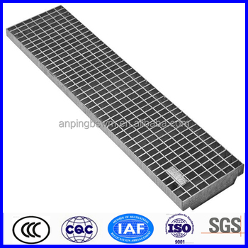 high quality galvanized steel metal grate steps