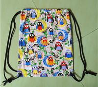 Good quality cotton drawstring backpack/ travel backpack bag/ shopping drawstring backpack