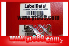 Tamper Proof Label with Bar Code