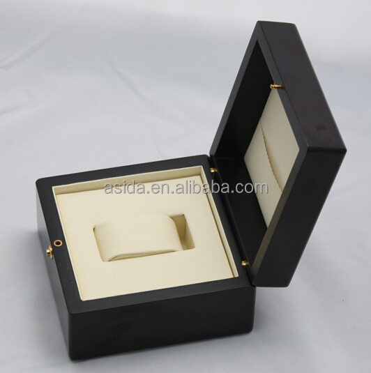 Black gloss paint single wood watch box/ watch display boxes