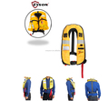 150N 330Lbs yellow inflatable life jacket
