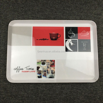 Plastic coffee cup holder tray