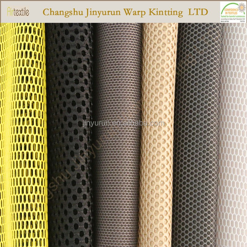 Polyester spacer honeycomb 3d mesh fabric