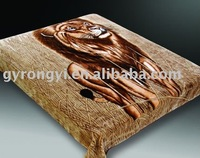 100% polyester printed &carved animal blanket 3.5kg