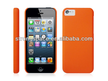 Orange simple and elegant plastic case for iphone 5c by China supplier