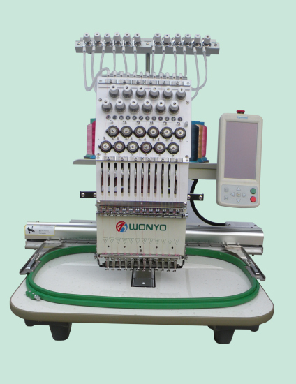 High speed 12 needles single head computerized embroidery machine barudan embroidery machine type