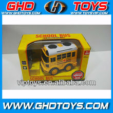 Happy 4ch rc plastic school bus toys with light rc bus