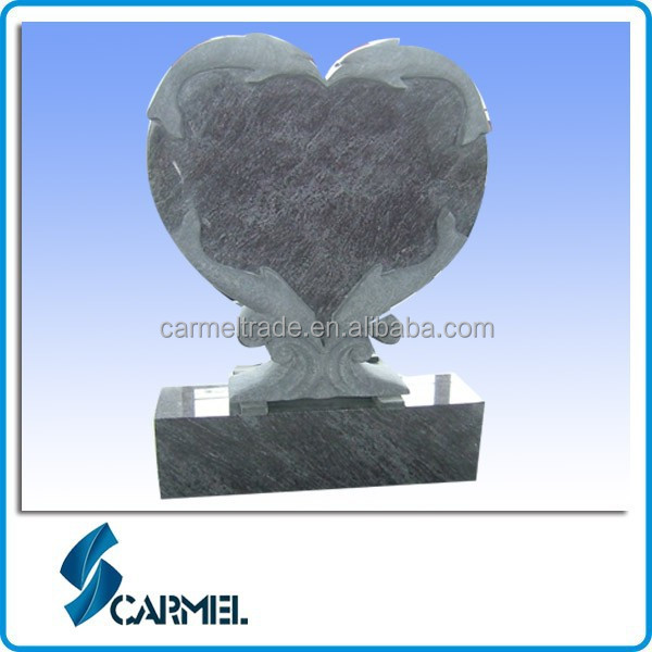 Heart Dolphin Design Blue Granite Cheap Headstones for Babies