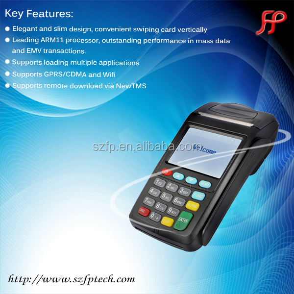 EMV wireless mobile payment POS terminal with thermal printer 58mm with touch screen monitor