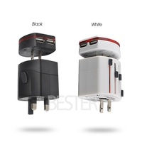 Dual USB Charger,universal business trip used convenient Electric plug, general AC Pwer adaptor