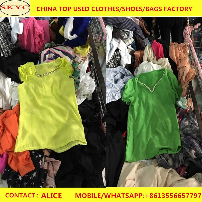 In bales sole used clothing fashion second hand used clothing korea style in bulk wholesale