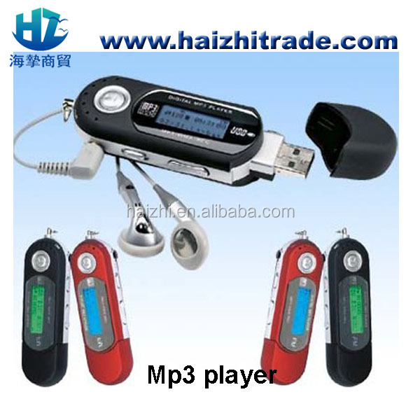 high quality sd card slot classical USB mp3 player with FM AAA battery memory sd card mp3 player