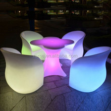 PE Material Rotational Moulding Plastic rechargeable LED light cube/LED SOFA/LED furniture