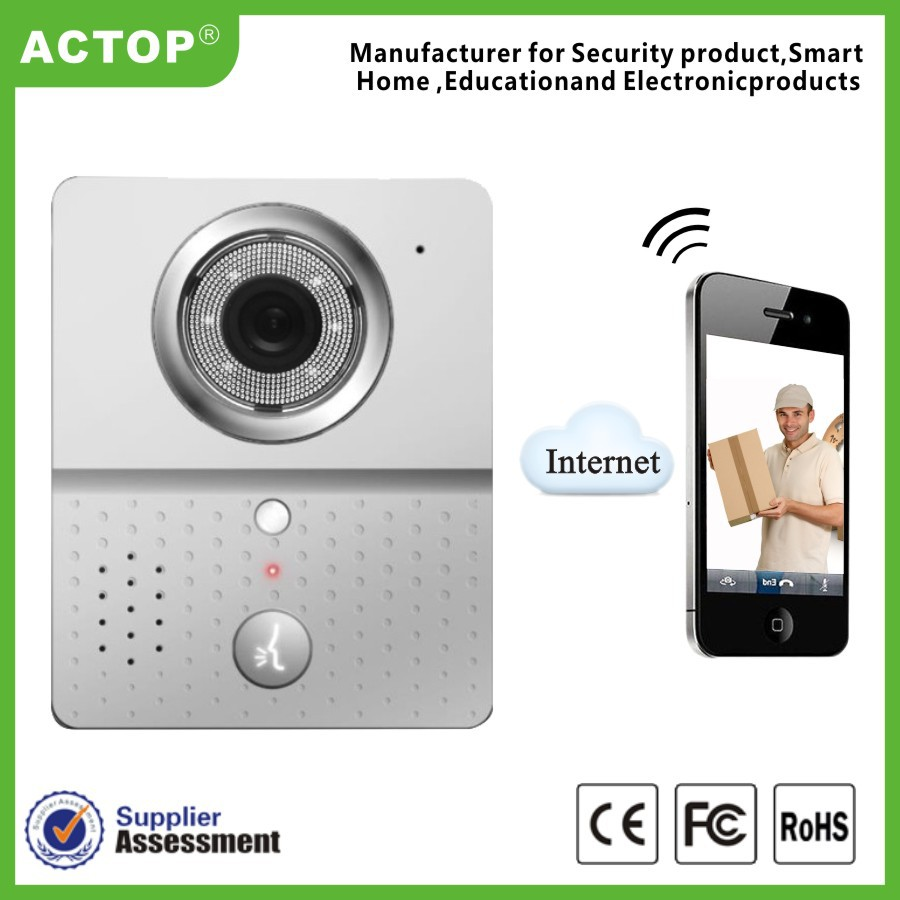 wifi door phone mobile smart phone control wifi wireless cheap video intercom