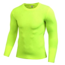 Hot Selling Anti-wrinkle Quick Dry Eco-friendly Slim T-shirt <strong>Apparel</strong> <strong>Men's</strong> Breathable Running Fit Wear Long Sleeve
