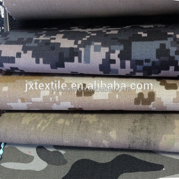 camo twill fabric 65% polyester 35% cotton tear resistant waterproof camouflage fabric