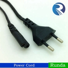 High quality 2 Pin European Standard Power Plug to IEC C7 Power Cord for PS3