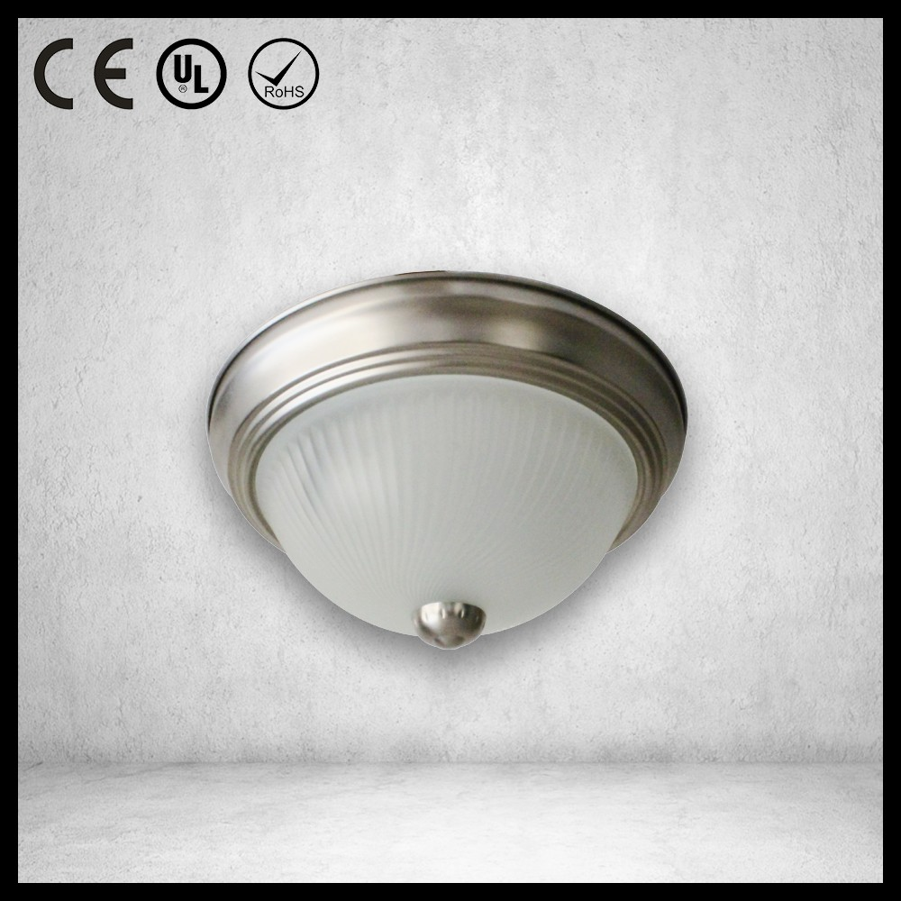 Professional LED glass ETL led flush mount ceiling light for wholesales
