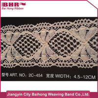 New design cotton embroidered lace trims made in China