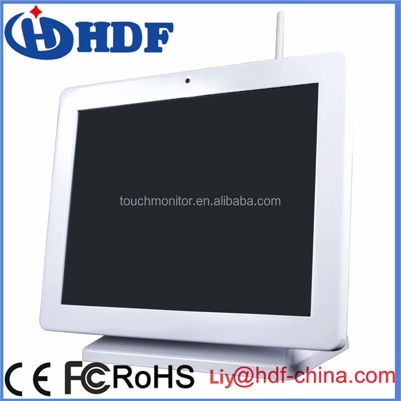 "15"" All-in-one Fanless touch POS System with free software"