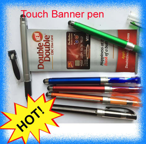 2016 Factory outlet top quality plastic Promotional pull out banner pen