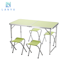 Skilled Technology folding wallpaper aluminum folding table with chair