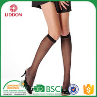 Summer Sexy Crystal Nylon Foot Disposable Sock,Women Very Cheap Knee High No Heel Leg Sock