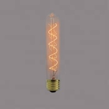T30 amber color 24 anchors spiral tube bulb,edison incandescent bulb