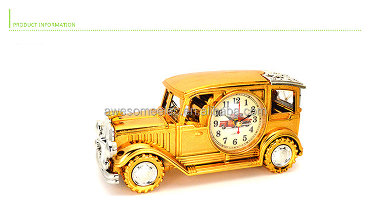 (kids) classical car model DIY alarm clock car shaped table and desk clock