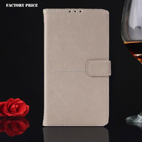 2016 Manufacturer Wholesale Luxury Retro Vintage Book Style With Card Slots Flip Wallet Leather Case for LG Nexus4