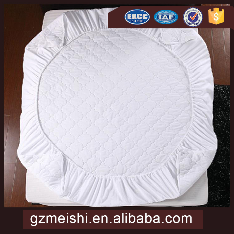 Factory price 100% cotton mattress pad cover PU waterproof mattress cover