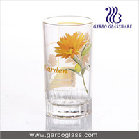 flower design printing tumbler , collin mixing glass cup juice tumbler with design